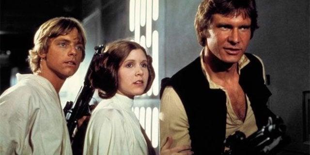 star wars luke han leia 1977 movie