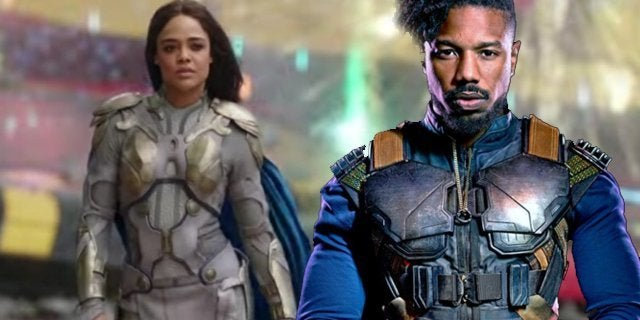 valkyrie killmonger michael b jordan tessa thompson