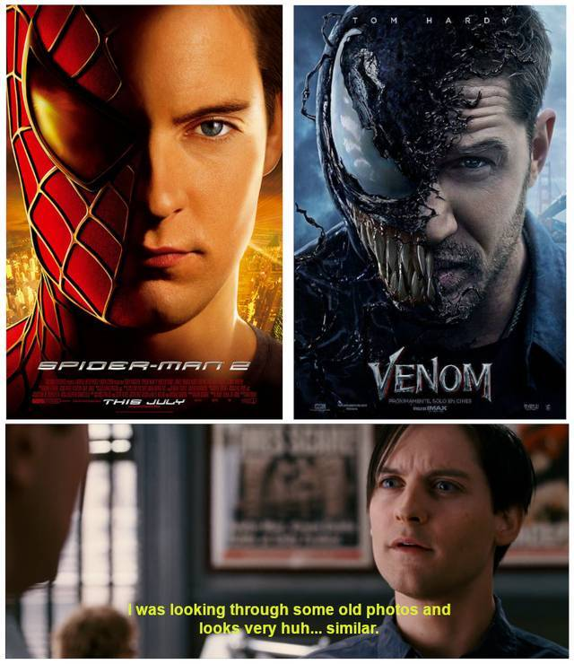 Tobey Maguire's Spider-Man Isn't Buying the 'Venom' Hype  Tobey Maguire&#...