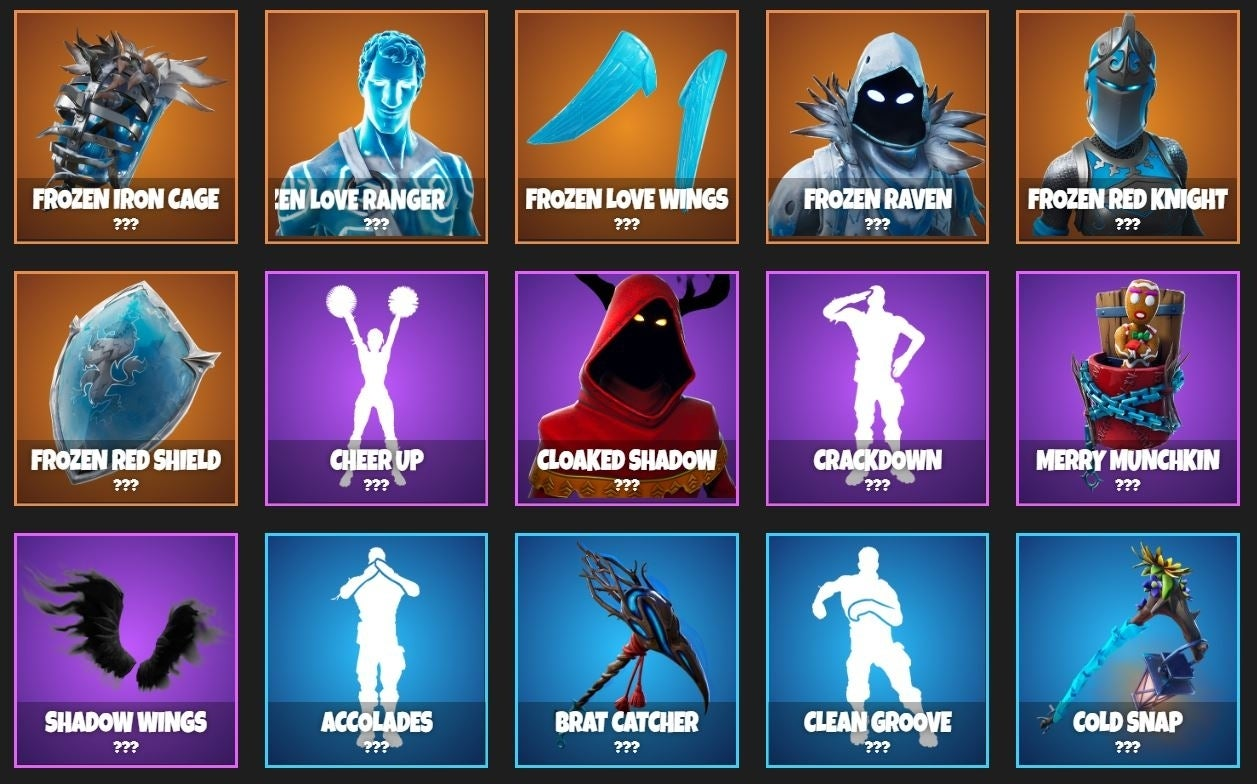 New 'Fortnite' Items Leak Reveals Tons Of New Outfits