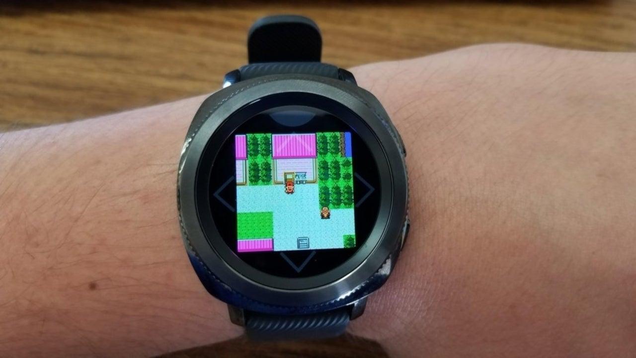Pokemon Fan Running Crystal On Smartwatch