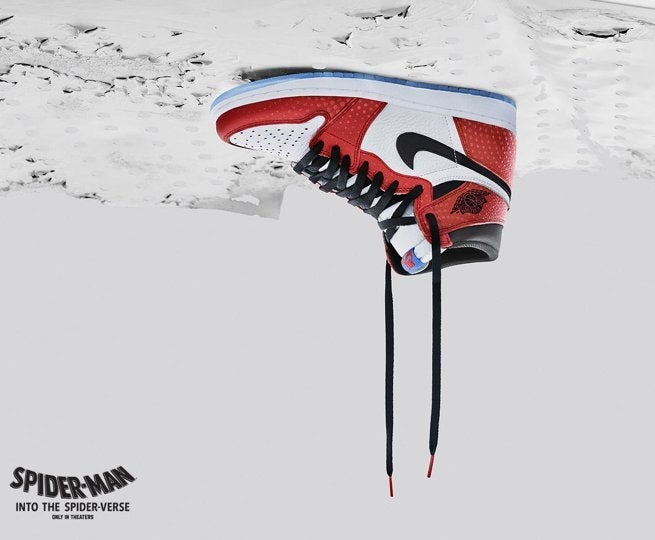 san francisco 7d106 fc232 Nike s  Spider-Man  Into the Spider-Verse  Air Jordan Sneakers Arrive Today