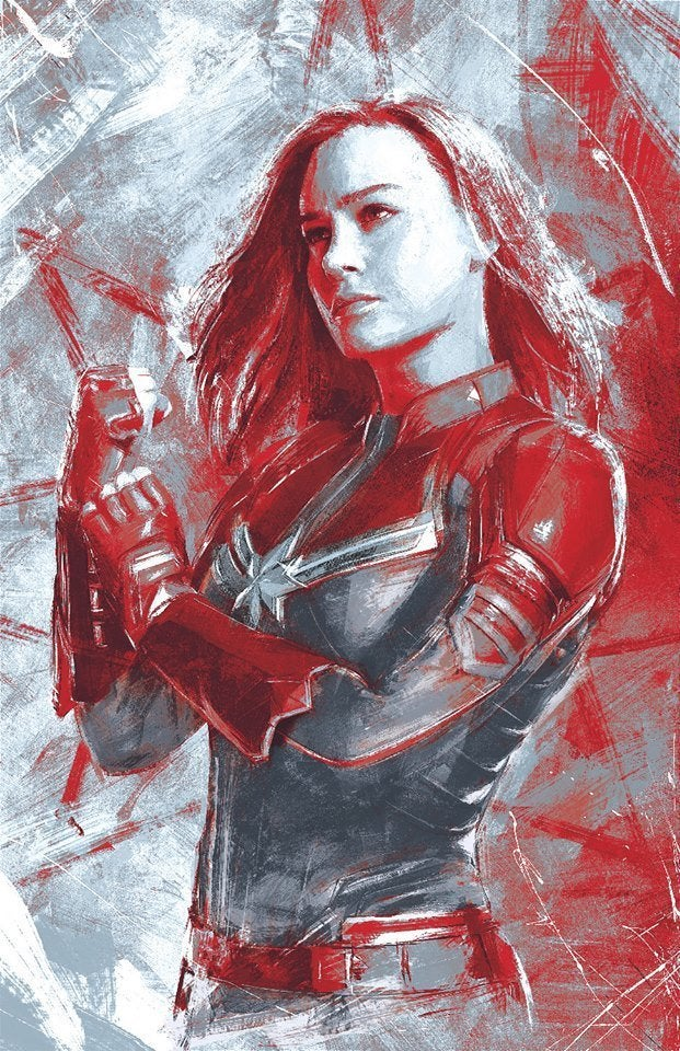 Avengers Endgame Promo Art Reveals New Looks For Captain Marvel