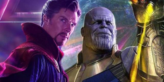 Avengers Infinity War Doctor Strange vs Thanos