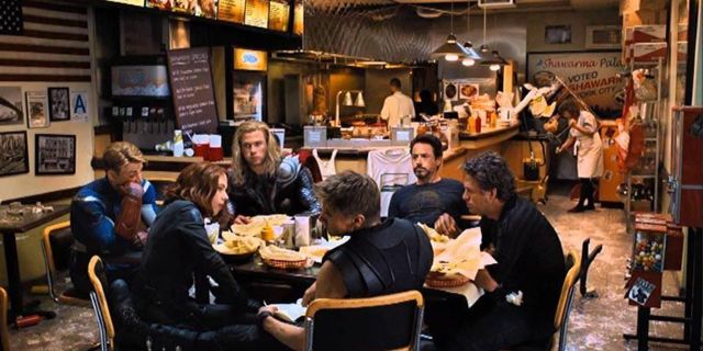 avengers shawarma scene