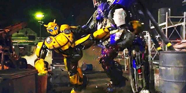 bumblebee dropkick fight scene