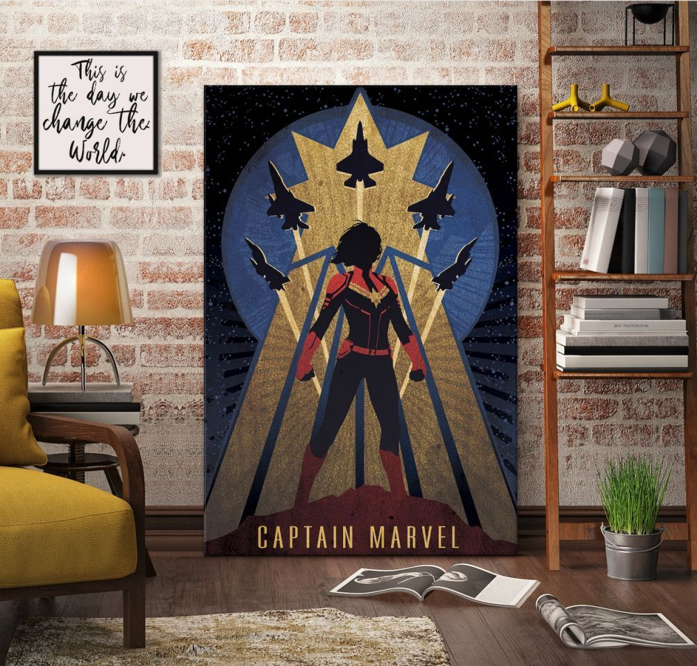 Captain-Marvel-Vintage-Print