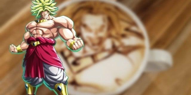 Dragon Ball Super Broly Coffee Art