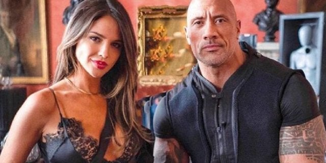Dwayne Johnson Hobbs and Shaw Madam M Eiza Gonzalez
