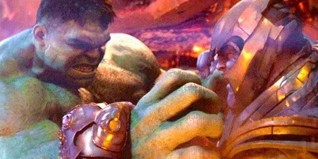 Hulk vs Thanos Infinity War