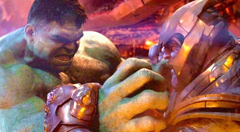 Hulk vs Thanos Infinity War