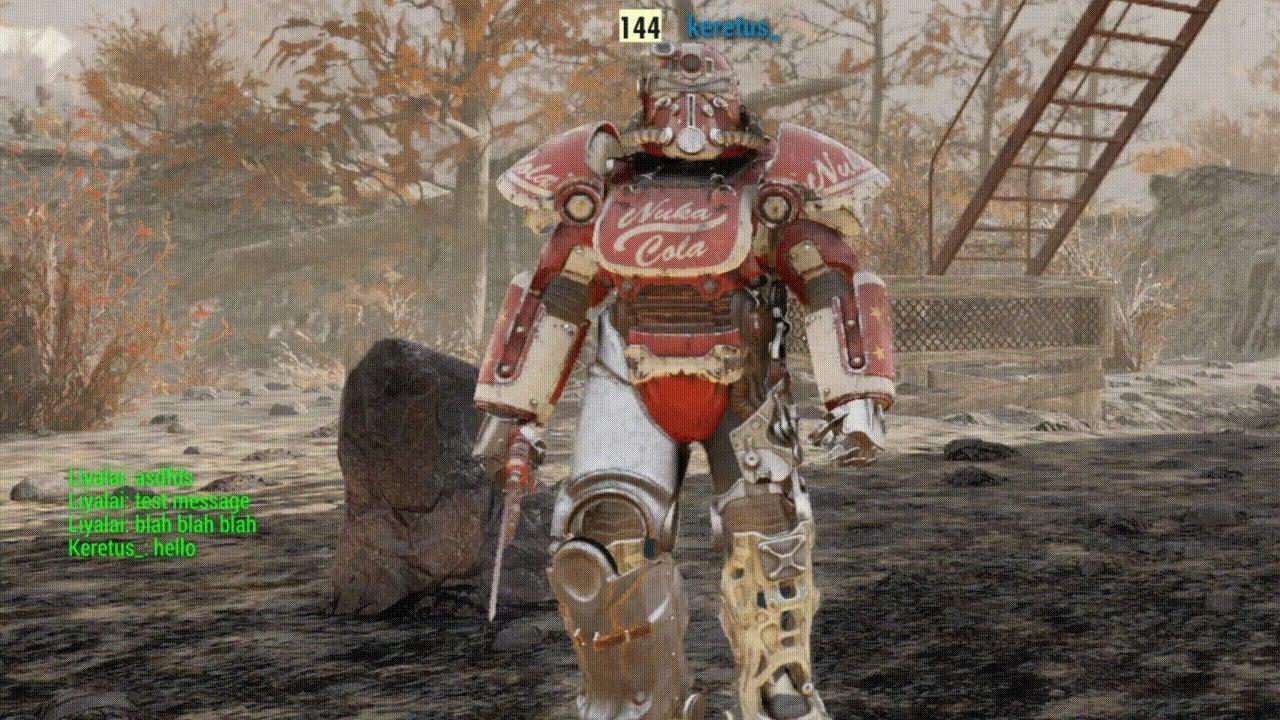نتيجة بحث الصور عن Fallout 76 text chat