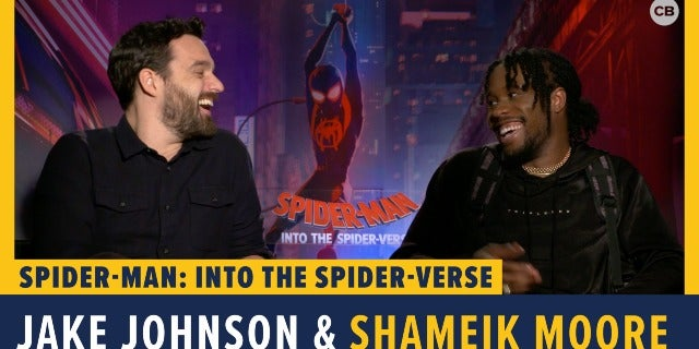 Jake Johnson and Shameik Moore Talk 'Spider-Man: Into the Spider-Verse' screen capture