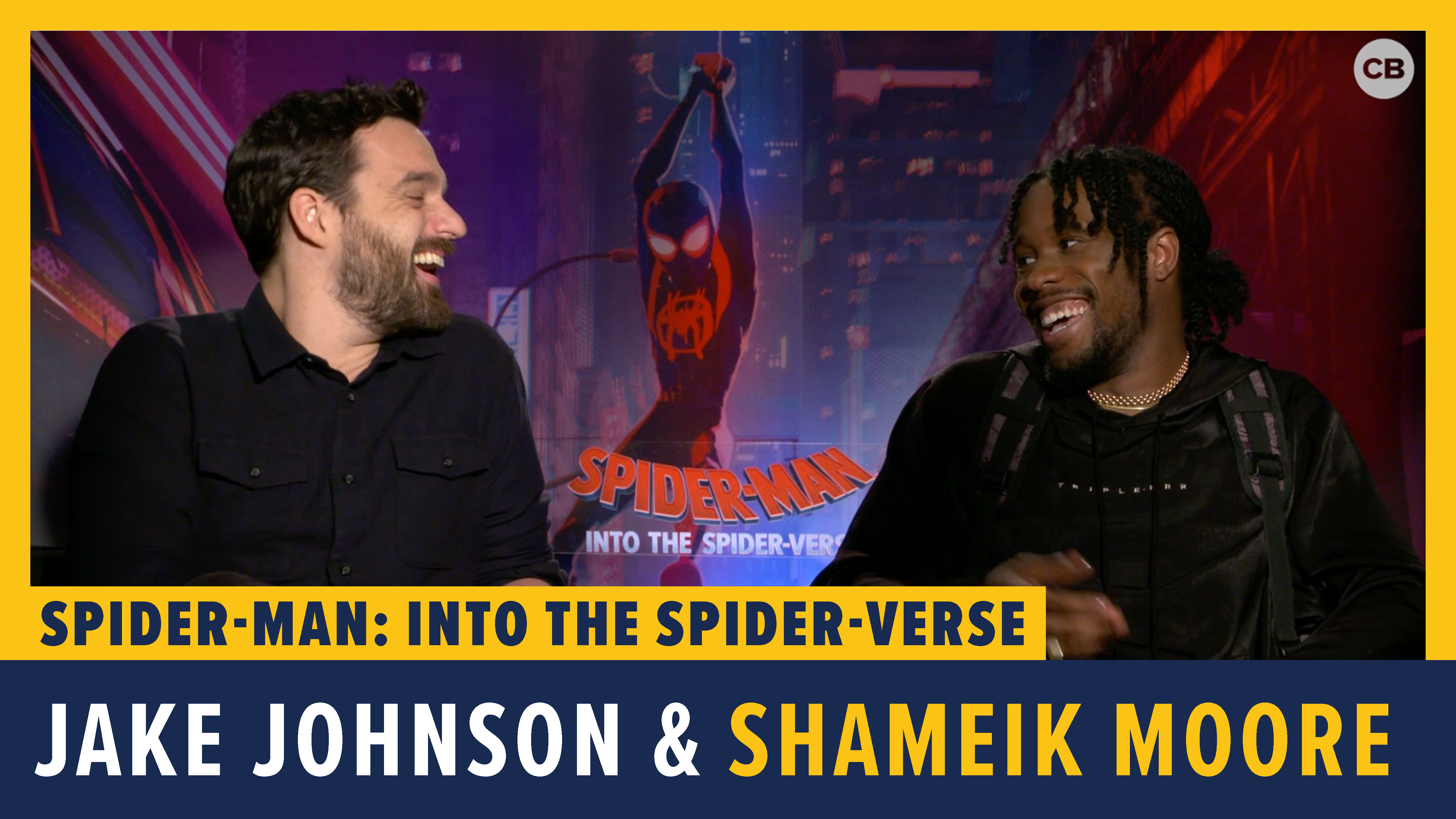 Jake Johnson and Shameik Moore Talk 'Spider-Man: Into the Spider-Verse' screen capture