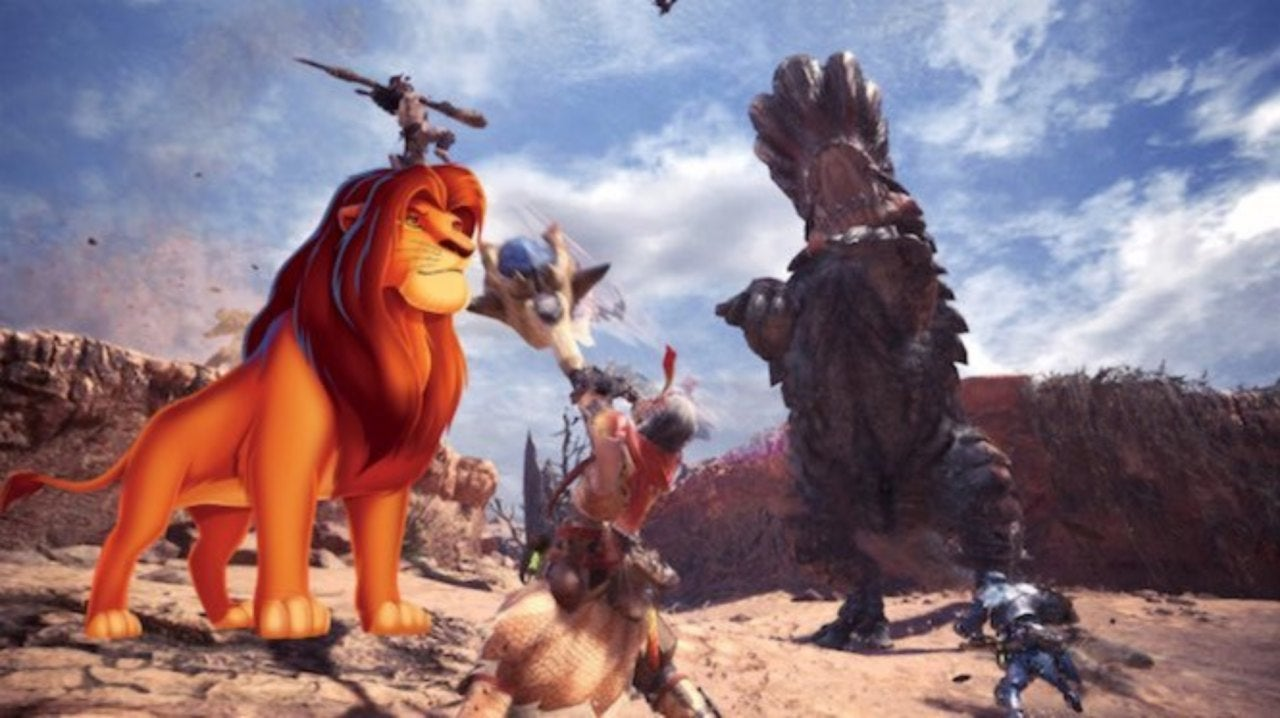 Monster Hunter World' Mod Adds Simba From Disney's 'The Lion