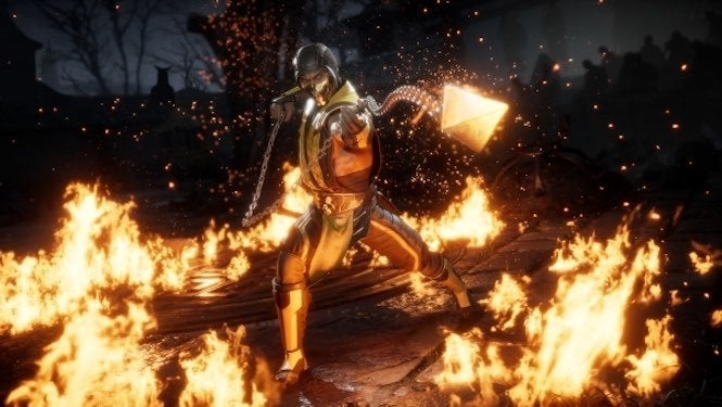 "Mortal Kombat ""title ="" Mortal Kombat ""height ="" 375 ""width ="" 665 ""data item ="" 1149490 ""/> [19659004]] In just five days, developer NetherRealm Studios will reveal the first look at <em> Mortal Kombat 11's </em> gameplay and reveal at least one character, but before that happens, the game's official Twitter account has jumped a new tease </p> <p>  The sculpture is For no one but Scorpion, one of the series' main stubs. And boy looks good. </p> <blockquote class="