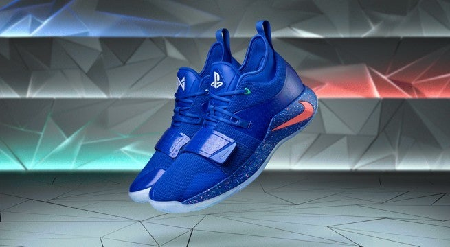 san francisco b3250 d3f5f Paul George's 'Royal' Blue Nike PG 2.5 PlayStation Sneakers ...