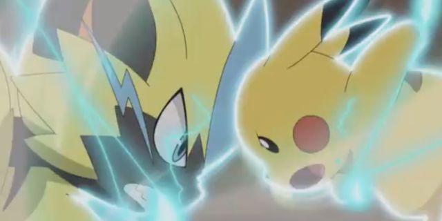 Pikachu-Zeraora-Battle-Pokemon-Sun-Moon-Episode-101