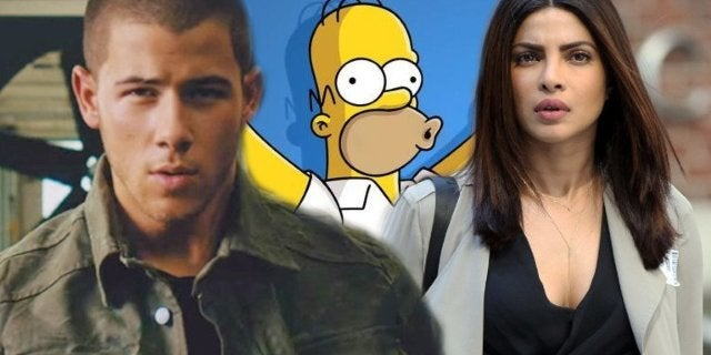 Priyanka Chopra Nick Jonas Wedding Simpsons Art