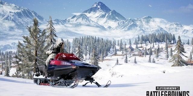 PUBG Snowmobile