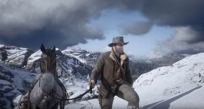 Salvation &quot;title =&quot; Redemption &quot;height =&quot; 351 &quot;width =&quot; 655 &quot;Class =&quot; 40 &quot;data-item =&quot; 1151496 &quot;/ &gt; </figure> <p>  Earlier this year, one player <em> managed to push Red Dead Redemption 2 </em> from the first game into a restricted area: Mexico, and another player has managed to move to another restricted zone on the opposite side stinging the map: the snow-capped mountains in the north. </p> <p>  So, what did the player find? Well, not much, but there&#39;s a lot to discover: frozen lakes, ice walls (<em> Red Dead Redemption 2 &amp; # 39; s <em>[1<div class=