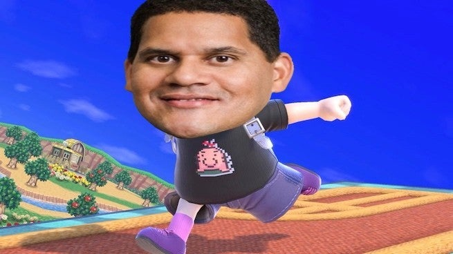 "reggie smash ""title ="" reggie smash ""height ="" 368 ""width ="" 655 ""class ="" 40 ""data item ="" 1150295 ""/> </figure> <p> Nintendo has released a brand-new Nintendo Minute video featuring hosts Kit and Krysta joined by Nintendo of America president and COO, Reggie Fils-Aime. </p> <p> More specifically, the video is dubbed a replay video, and features one of the faces of Nintendo Reaction to the newly released Nintendo Switch platform fighter, <em> Super Smash Bros. Ultimate </em>as well as revealing some interesting insights into the lead up to the game's launch earlier this month. [1<div class="