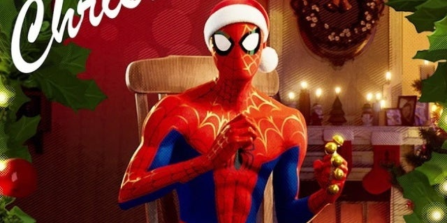 spider man into the spider verse a very spidey christmas ep