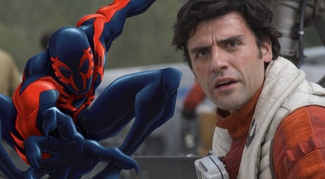 spider man into the spider verse oscar isaac spider man 2099