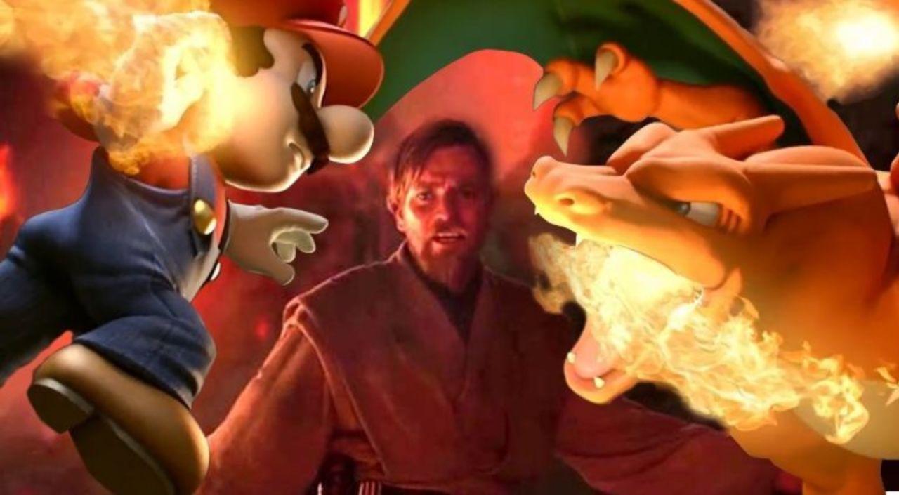 Super Smash Bros Ultimate Player Recreates Star Wars High Ground Meme
