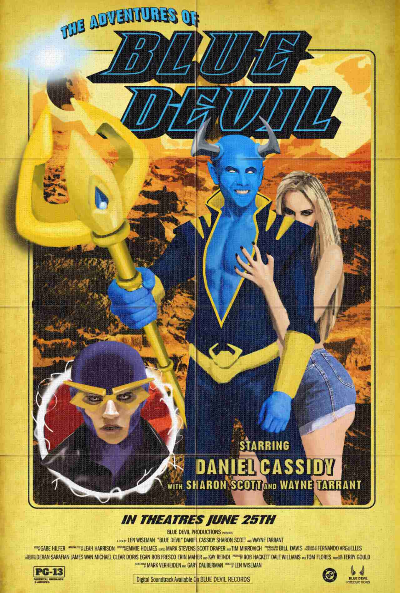 Swamp Thing Blue Devil Movie Poster