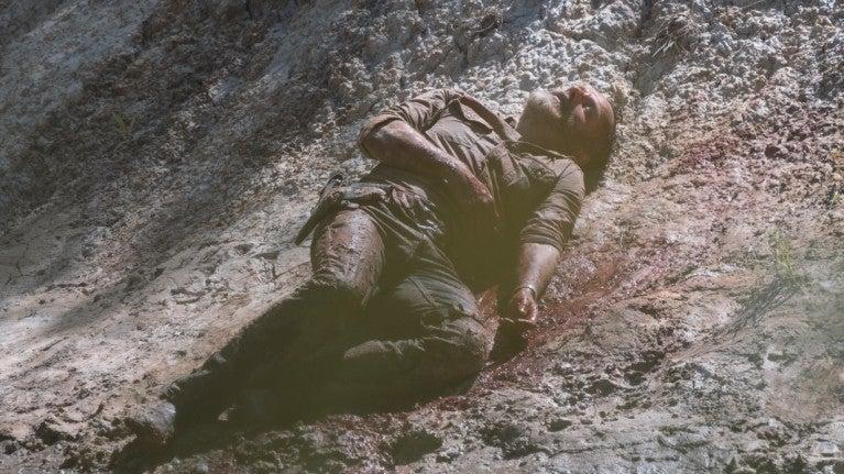 The Walking Dead Rick riverbank