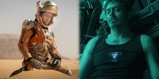 tony stark avengers endgame the martian matt damon