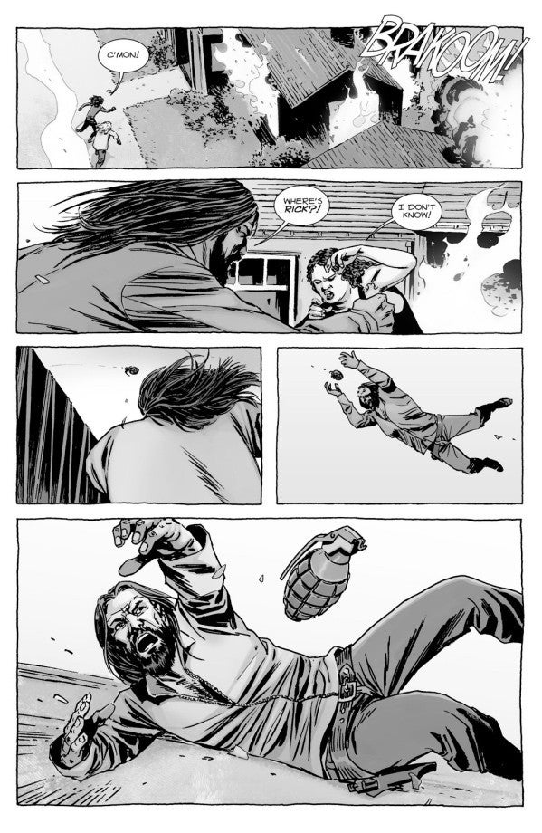 Walking Dead Jesus grenade catch