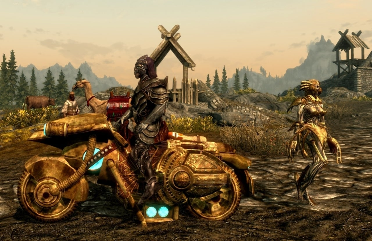 Ride a Motorcycle In 'Skyrim' With This Mod, Because Why Not?