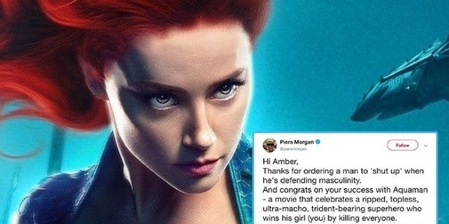 Piers Morgan In Twitter Feud With Amber Heard, Takes Shot At 'Aquaman'