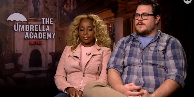 Cameron Britton and Mary J. Blige Talk 'The Umbrella Academy' screen capture
