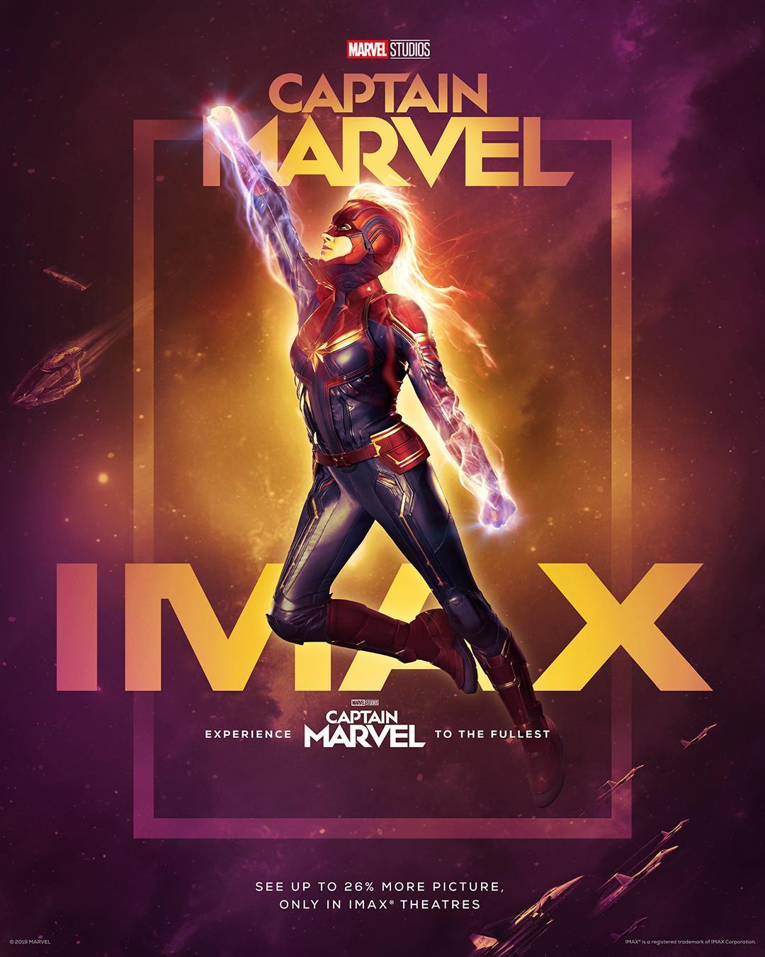captain marvel ımax poster ile ilgili görsel sonucu