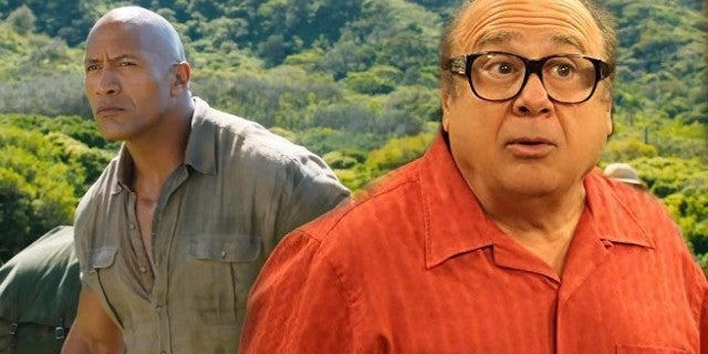 The Rock Shares First Look At Danny Devito Rehearsing For 'Jumanji' Sequel