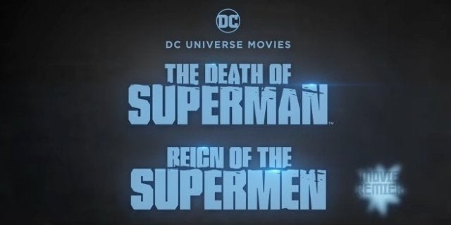 Death Superman Reign Supermen Double Feature Movie Theaters