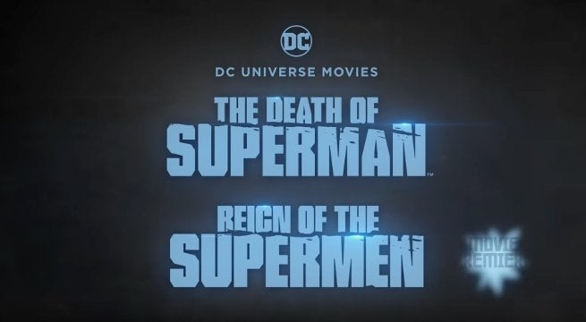 Death Superman Reign Supermen Double Feature Movie Theaters