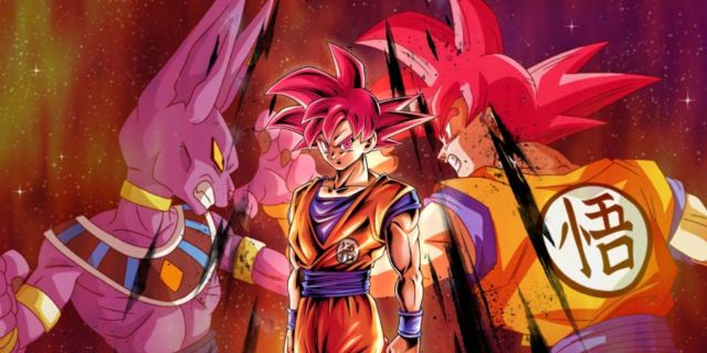 Dragon Ball Legends SSG Goku Banner Art