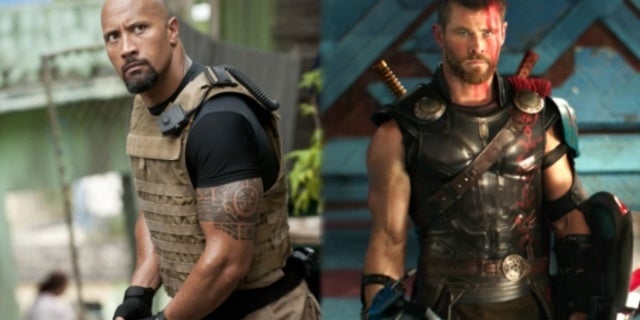 Dwayne Johnson Fast Furious Chris Hemsworth Thor