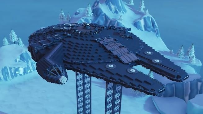 'Fortnite' Player Recreates 'Star Wars' Millennium Falcon Inside and Out