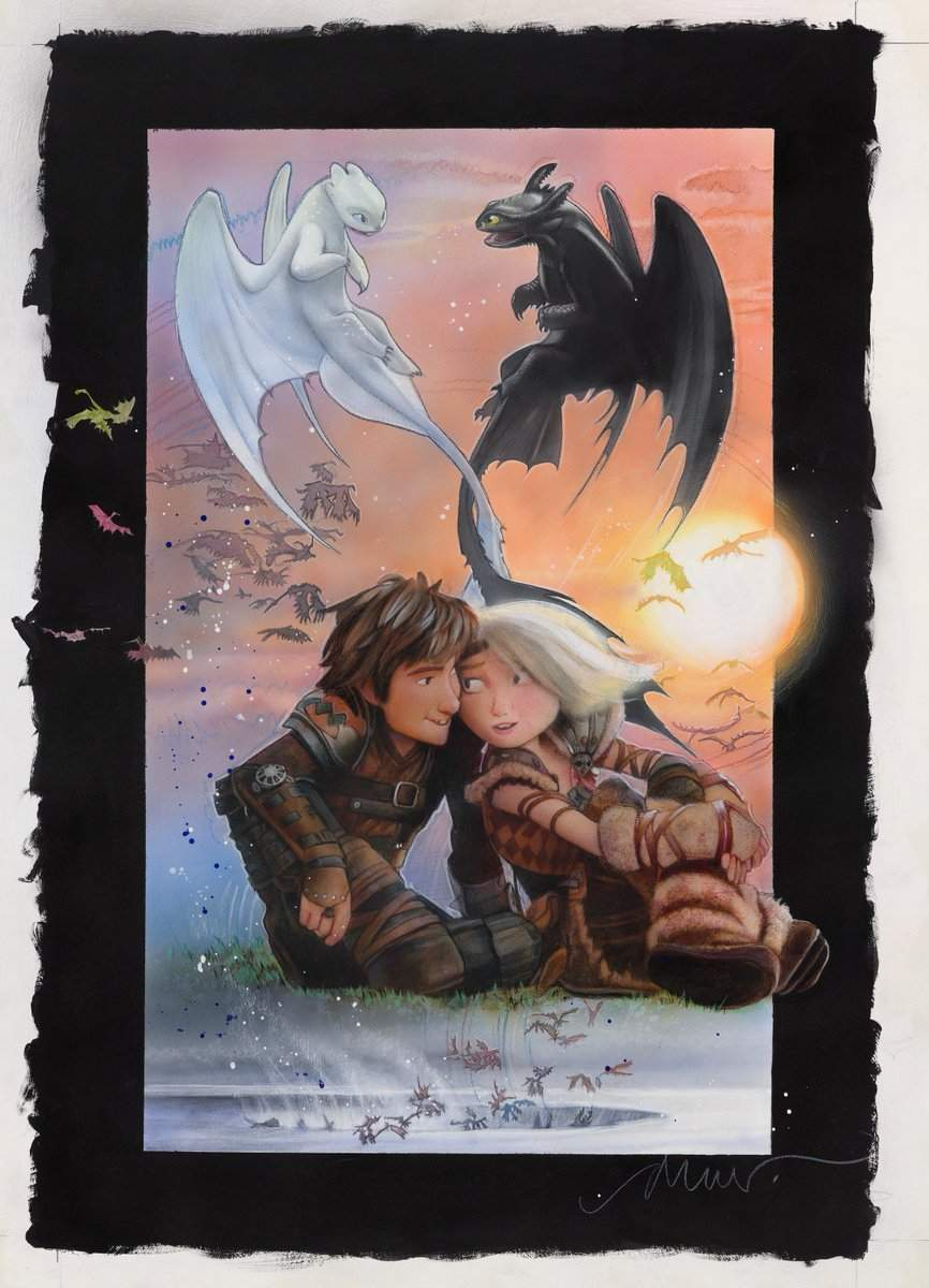How to Train Your Dragon The Hidden World Drew Struzan