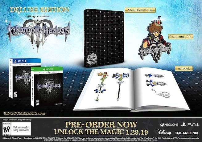 kh &quot;title =&quot; kh &quot; height = &quot;461&quot; width = &quot;655&quot; class = &quot;40&quot; data-item = &quot;1152534&quot; /&gt;    <figcaption> (Photo: Square Enix) </figcaption></figure> <p>  Deluxe Edition + Bring Arts Figures: This bad boy is only available via pre-order on Square Enix&#39;s own website at a price of $ 229.99, currently it is still available, but there is a waiting list, it comes with all Deluxe Edition has, plus the following: </p><div><script async src=