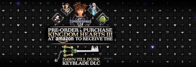 kh 3 1 &quot;title =&quot; kh 3 1 &quot;height =&quot; 225 &quot;width =&quot; 655 &quot;class =&quot; 40 &quot;data -item = &quot;1152537&quot; /&gt;    <figcaption> (Photo: Square Enix) </figcaption></figure> <p>  <strong> Best Buy: </strong> Pre-ordering both Deluxe and Standard Edition get you the same: </p> <ul> <li>  $ 10 in Best Buy Rewards </li> <li>  One of 11 keychain figures (pictured below). ne you get is completely random. </li> </ul> <figure class=