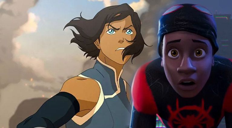 legend of korra into the spider verse