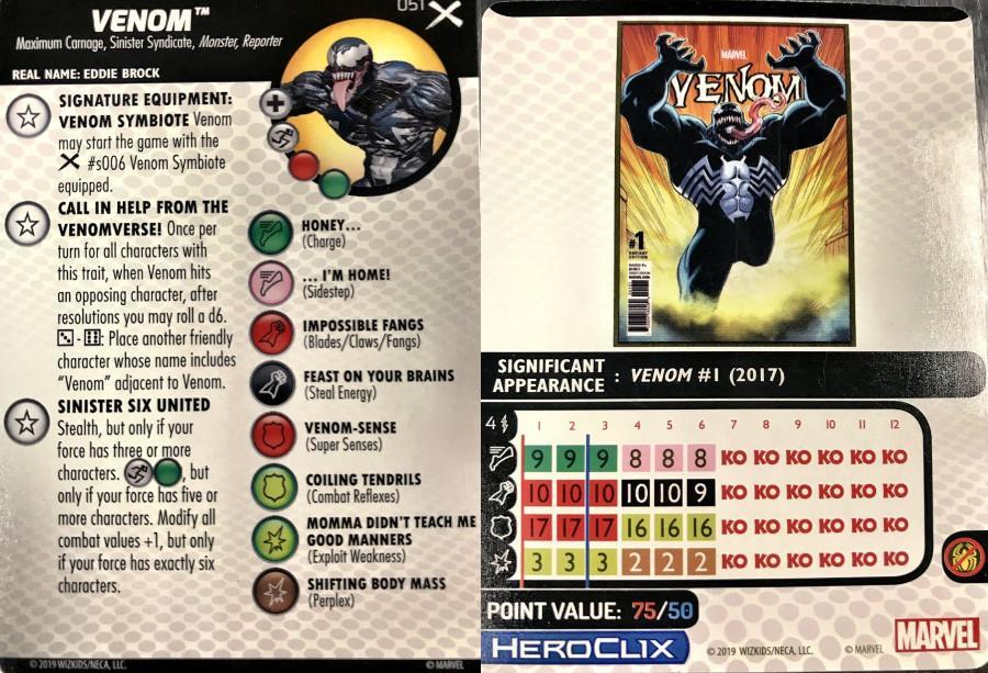 Marvel Earth-X HeroClix Venom