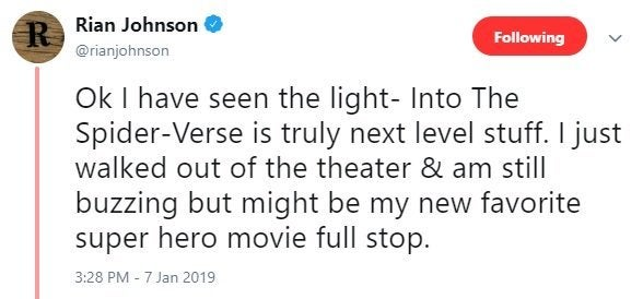 rian johnson into the spider verse