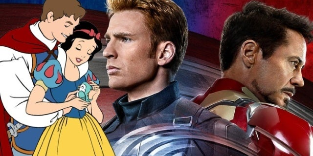 robert downey jr chris evans snow white meme